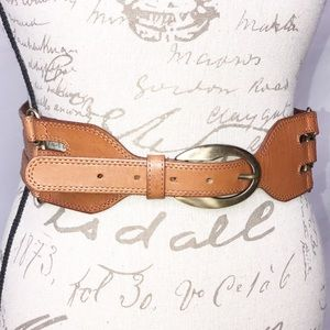 Anthro Rough Roses Leather Belt Medium Boho